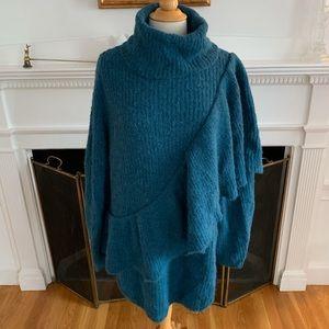 H&M soft oversized alpaca turtleneck sweater dress